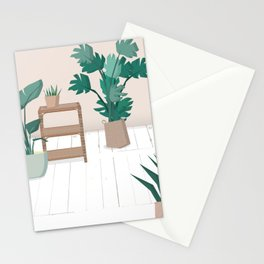 A house with plants is a home Stationery Cards