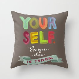 Smart People Say Smart Things Throw Pillow
