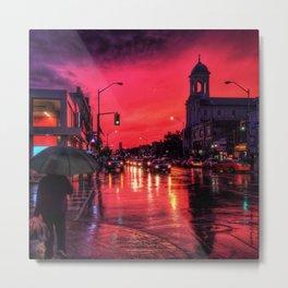 Red Sky at Night Metal Print