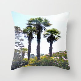 The Lost Gardens of Heligan - Palm Trees Throw Pillow