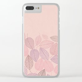 LEAVES ENSEMBLE ROSE Clear iPhone Case