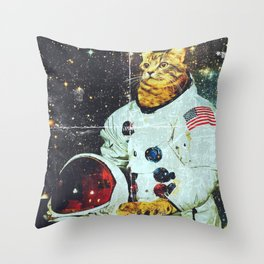 xX SPACE CAT Xx Throw Pillow