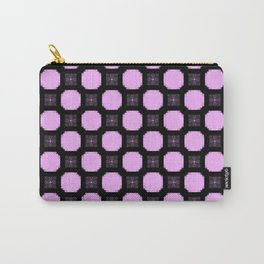 Geometric ornament in pink and black. Carry-All Pouch
