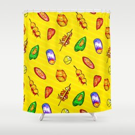street snack Shower Curtain