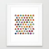 foo fighters Framed Art Prints featuring Street Fighters by Kid Khronos