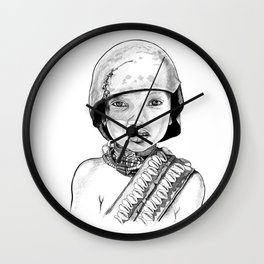 CHILD SOLDIER Wall Clock