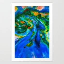 Milkblot No. 13 Art Print
