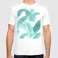 Palms Mens Fitted Tee MEDIUM White