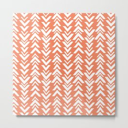 tribal arrows coral Metal Print