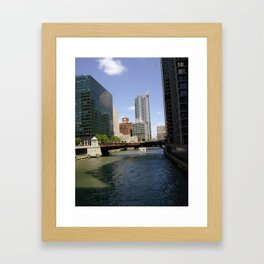 Downtown in Chicago Framed Art Print