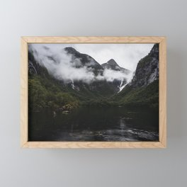 Over Ranges And Rivers It Lies Framed Mini Art Print