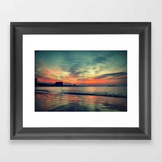In Beetween Night & Day Framed Art Print