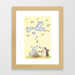 Birth of Baby Boy greeting card by Nicole Janes Framed Art Print