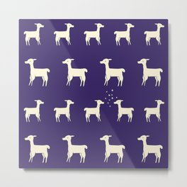 ALPACAS IN LOVE Metal Print