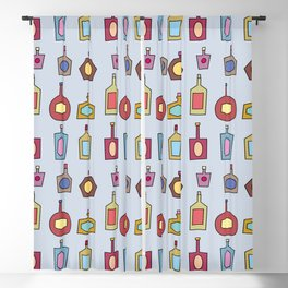 Booze Bottles Pattern Blackout Curtain