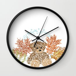 Autumn Bear Wall Clock