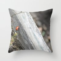 ladybug Throw Pillows featuring Ladybug by Zen and Chic