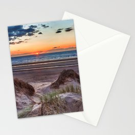 Sunset over the sand dunes Stationery Cards
