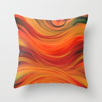 fabric Throw Pillows featuring fabric by Cool-Sketch-Len