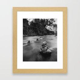 River Stacks Framed Art Print
