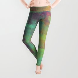 Humility - Mixed Colour Abstract Leggings