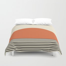 Sunrise / Sunset - Orange & Black Duvet Cover