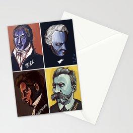 Hegel Kant Kierkegaard Nietzsche Stationery Cards