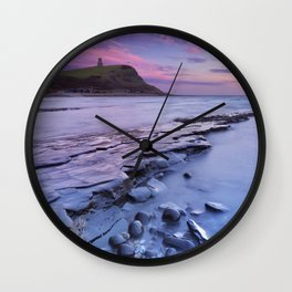 Sunset at Kimmeridge Bay in southern England Wall Clock