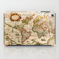 vintage map iPad Cases featuring Vintage Map by Diego Tirigall