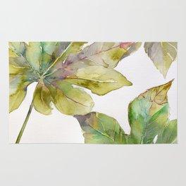 Aralia japonica Leaves Foliage Rug