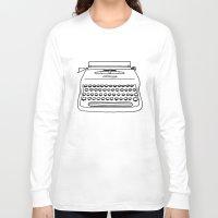 typewriter Long Sleeve T-shirts featuring 'Typewriter' by Ben Rowe