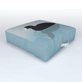 Common coot vector Outdoor Floor Cushion