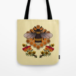 The Bumble Bee & his Honeycomb Tote Bag