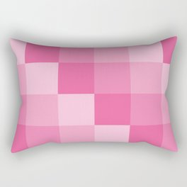Four Shades of Pink Square Rectangular Pillow