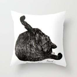 Manet's Cat Throw Pillow