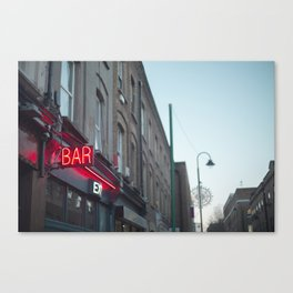 Neon Bar Brick Lane Canvas Print