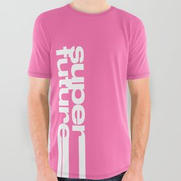 Superfuture Pink All Over Graphic Tee