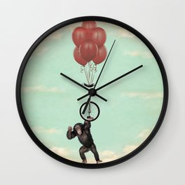 The Unicycle Incident Wall Clock
