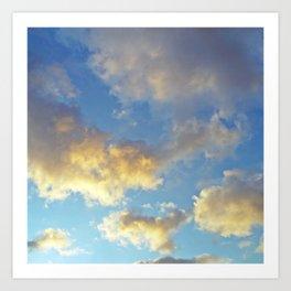 Heavenly skies Art Print