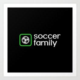 Soccer Family (Green) Art Print