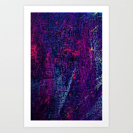 Doodlez on Chaos One Art Print