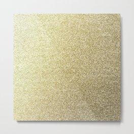 gold glitter Metal Print