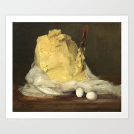 Mound of Butter by Antoine Vollon, 1875 Art Print