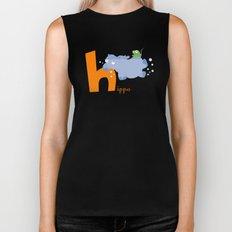 h for hippo Biker Tank