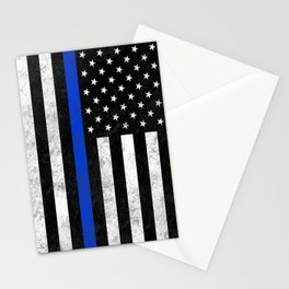 Thin Blue Line Flag 2 Stationery Cards