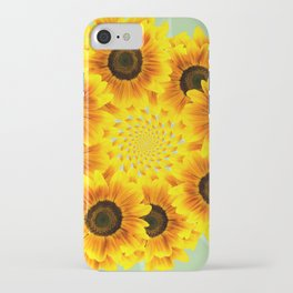 Spinning Sunflowers iPhone Case