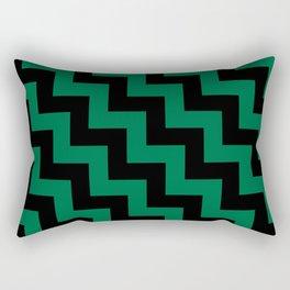 Black and Cadmium Green Steps LTR Rectangular Pillow