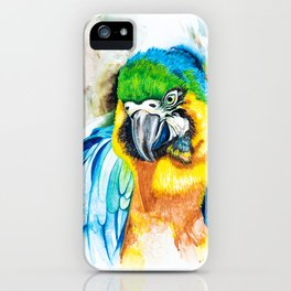 Blue Macaw iPhone Case