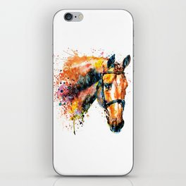 Colorful Horse Head iPhone Skin