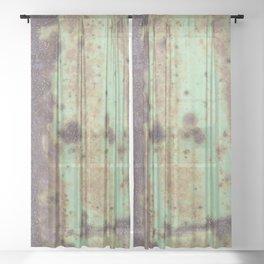 Green Rust Sheer Curtain